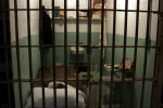 A prison cell is pictured inside Alcatra