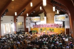 The pews and the choir loft are full at Alfred Street Baptist Church, an historic, predominantly black congregation in Alexandria, Va., on July 26, 2015. Religion News Service photo by Adelle M. Banks